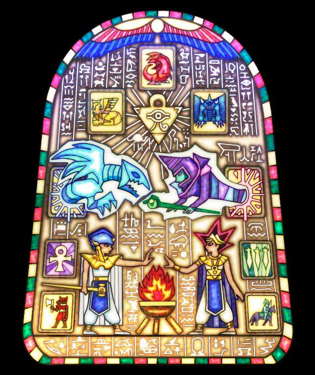 Tags: Anime, Yiyiyi, Yu-Gi-Oh! Duel Monsters, Yu-Gi-Oh!, Dark Magician, Priest Seto, Pharaoh Atem, The Winged Dragon of Ra, Yami Yugi, Obelisk the Tormenter, Blue-Eyes White Dragon, Slifer the Sky Dragon, Millennium Rod