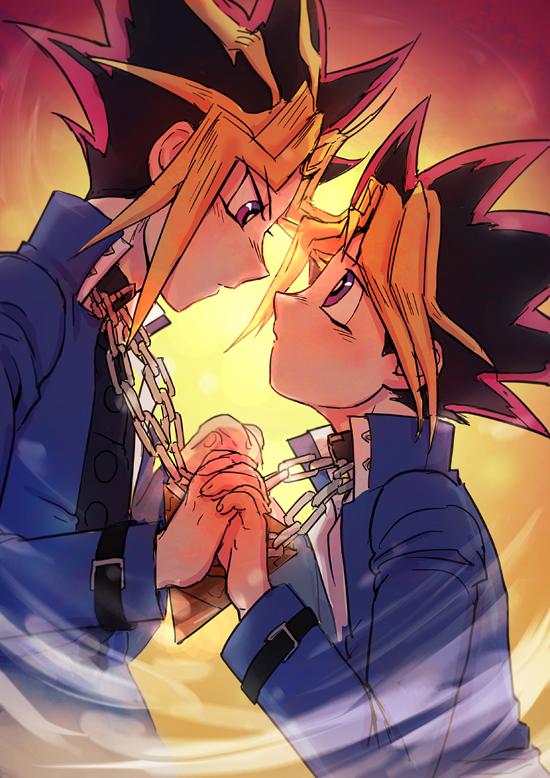 Tags: Anime, Pixiv Id 2188679, Yu-Gi-Oh!, Yu-Gi-Oh! Duel Monsters, Yami Yugi, Mutou Yuugi, Chain Necklace, Fanart, Mobile Wallpaper, Fanart From Pixiv, Pixiv, AtemOmo