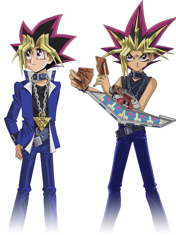 Tags: Anime, Studio Gallop, Yu-Gi-Oh! Duel Monsters, Yu-Gi-Oh!, Yami Yugi, Mutou Yuugi, PNG Conversion, Mobile Wallpaper, Official Art