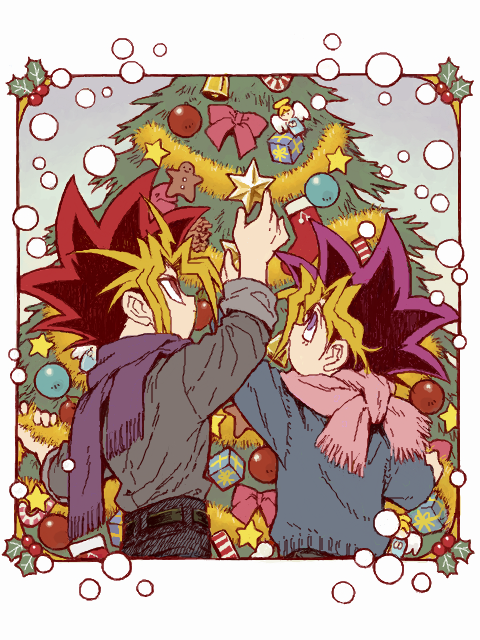 Tags: Anime, Pixiv Id 7167779, Yu-Gi-Oh! Duel Monsters, Yu-Gi-Oh!, Yami Yugi, Mutou Yuugi, Purple Neckwear, Fanart, Tegaki, PNG Conversion