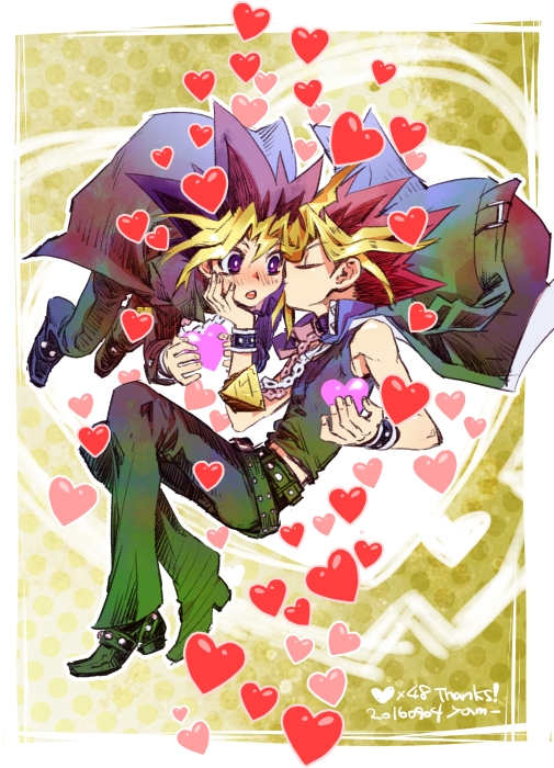 Tags: Anime, Pixiv Id 2075835, Yu-Gi-Oh! Duel Monsters, Yu-Gi-Oh!, Yami Yugi, Mutou Yuugi, Spotted Background