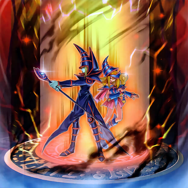 Tags: Anime, Yu-Gi-Oh!, Yu-Gi-Oh! Duel Monsters, Dark Magician Girl, Dark Magician, Official Art, Official Card Illustration