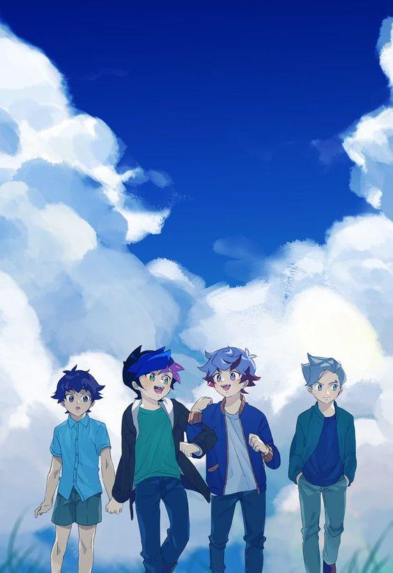 Tags: Anime, Yu-Gi-Oh! VRAINS, Yu-Gi-Oh!, Specter, Kusanagi Jin, Fujiki Yuusaku, Homura Takeru, Fanart, Artist Request