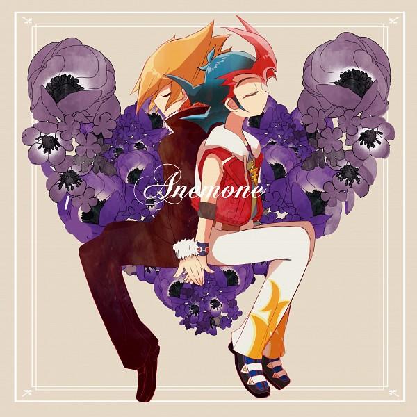 Tags: Anime, Pixiv Id 1314242, Yu-Gi-Oh!, Yu-Gi-Oh! ZEXAL, Vector (Yu-Gi-Oh! ZEXAL), Tsukumo Yuma, Purple Flower