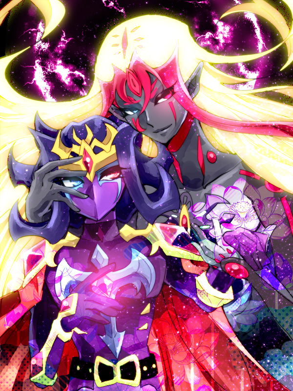 Tags: Anime, Pixiv Id 216941, Yu-Gi-Oh!, Yu-Gi-Oh! ZEXAL, Don Thousand, Kamishiro Ryoga, Purple Handwear, Purple Gloves, Unnaturally Black Skin, Fanart From Pixiv, Pixiv, PNG Conversion, Wallpaper