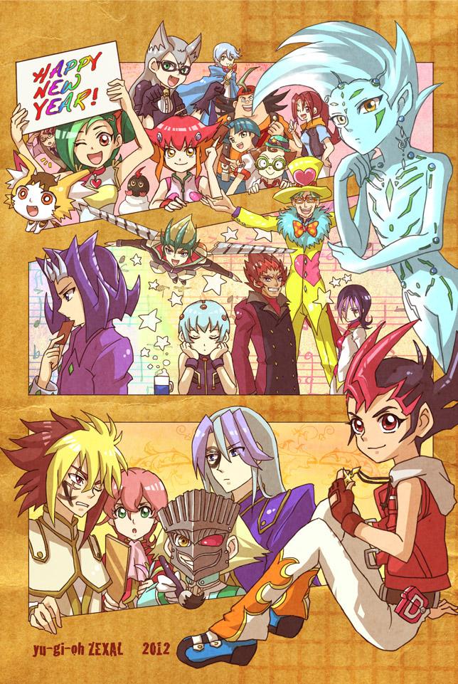 Tags: Anime, Pixiv Id 1832554, Yu-Gi-Oh! ZEXAL, Yu-Gi-Oh!, Kamishiro Ryoga, Takeda Tetsuo, Mr. Heartland, Tenjou Haruto, Gauche (Yu-Gi-Oh! ZEXAL), Mizuki Kotori, Tsukumo Akari, Byron Arclight, Tenjou Kaito