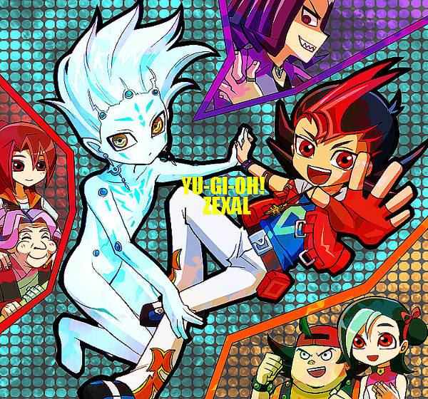 Tags: Anime, Yu-Gi-Oh!, Yu-Gi-Oh! ZEXAL, Tsukumo Akari, Kamishiro Ryoga, Mizuki Kotori, Tsukumo Yuma, Takeda Tetsuo, Emperor's Key