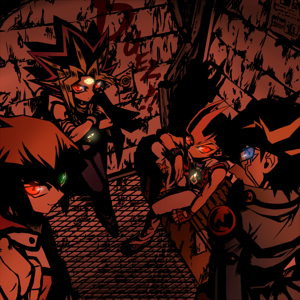 Tags: Anime, Raku623, Yu-Gi-Oh! 5D's, Yu-Gi-Oh! Duel Monsters, Yu-Gi-Oh!, Yu-Gi-Oh! GX, Yu-Gi-Oh! ZEXAL, Juudai Yuuki, Yami Yugi, Yusei Fudo, Tsukumo Yuma, Fanart From Pixiv, Fanart