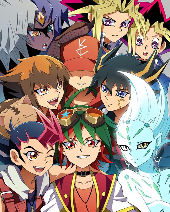 Tags: Anime, Pixiv Id 8141112, Yu-Gi-Oh! ARC-V, Yu-Gi-Oh! 5D's, Yu-Gi-Oh! GX, Yu-Gi-Oh!, Yu-Gi-Oh! ZEXAL, Yu-Gi-Oh! Duel Monsters, Juudai Yuuki, Astral, Yusei Fudo, Yami Yugi, Tsukumo Yuma