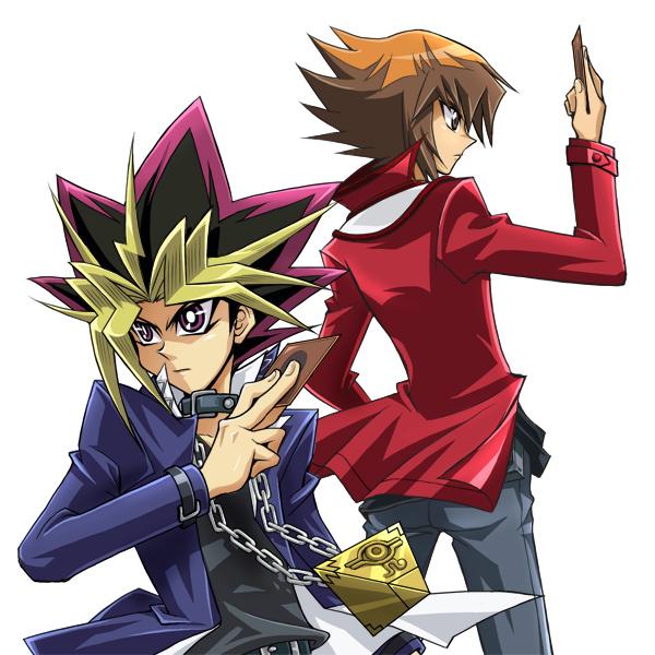 Tags: Anime, Masami (Artist), Yu-Gi-Oh! Duel Monsters, Yu-Gi-Oh!, Yu-Gi-Oh! GX, Yami Yugi, Juudai Yuuki, Chain Necklace, Pixiv, Fanart From Pixiv, Fanart