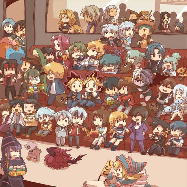 Tags: Anime, Yu-Gi-Oh! GX, Yu-Gi-Oh! 5D's, Yu-Gi-Oh!, Yu-Gi-Oh! Duel Monsters, Black Rose Dragon, Kujaku Mai, Edo Phoenix, Lazar, Crow Hogan, Marufuji Shou, Dark Magician Girl, Mazaki Anzu