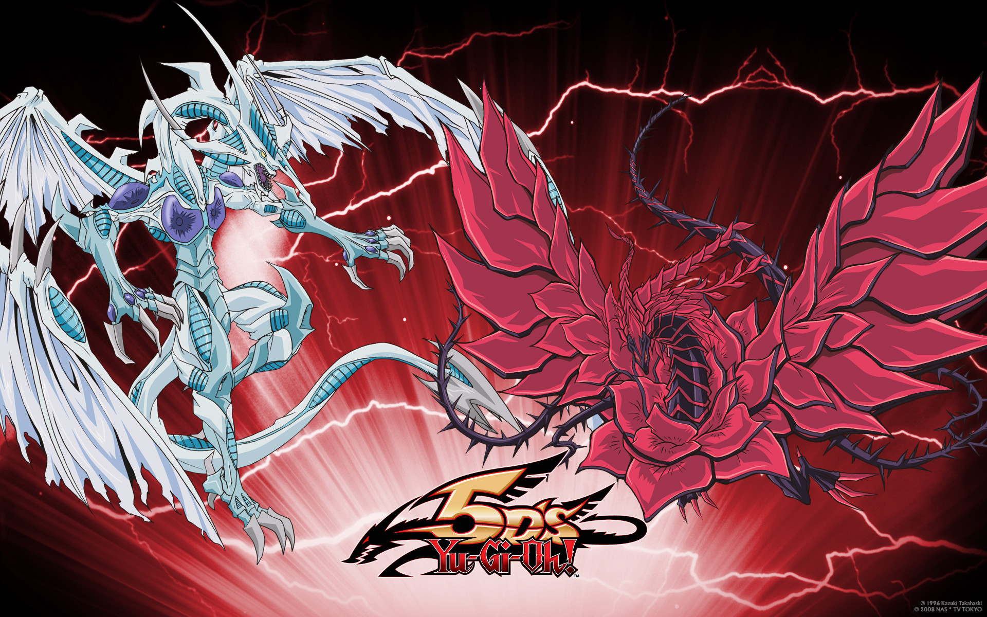 Yu-Gi-Oh   Yu-Gi-Oh 5Ds  Black Rose Dragon  Stardust Dragon  DragonYugioh 5ds Dragon Wallpaper