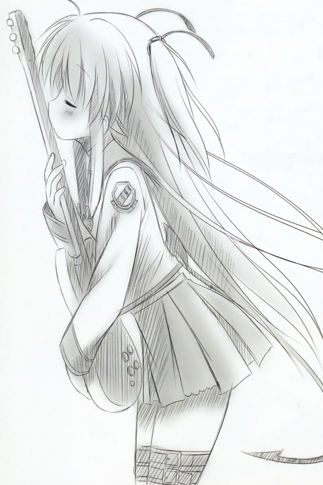 Yui Angel Beats Drawing Yui.(angel.beats!).full
