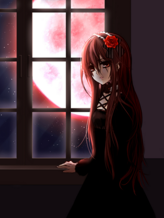 Tags: Anime, Akano Sakura, Vampire Knight, Yuki Cross, Red Moon, Pixiv, Fanart From Pixiv, Fanart