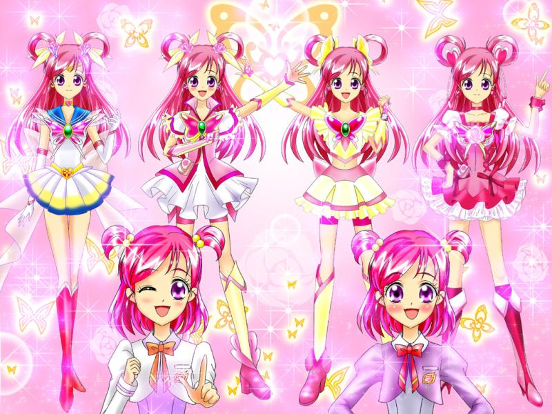 Anime Characters Pink Hair : Cure dream cosplay zerochan anime image board