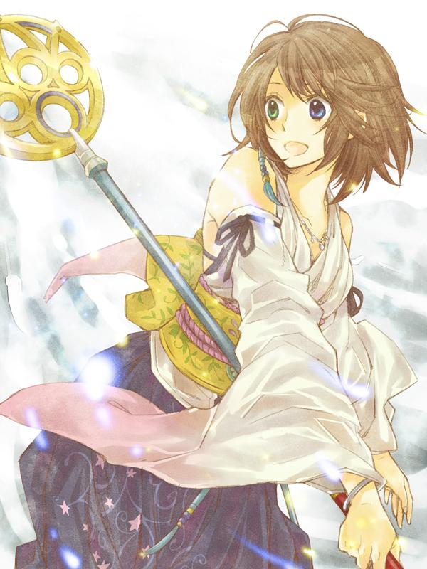 Tags: Anime, Shichimiso, Final Fantasy X, Yuna, Pixiv, Fanart