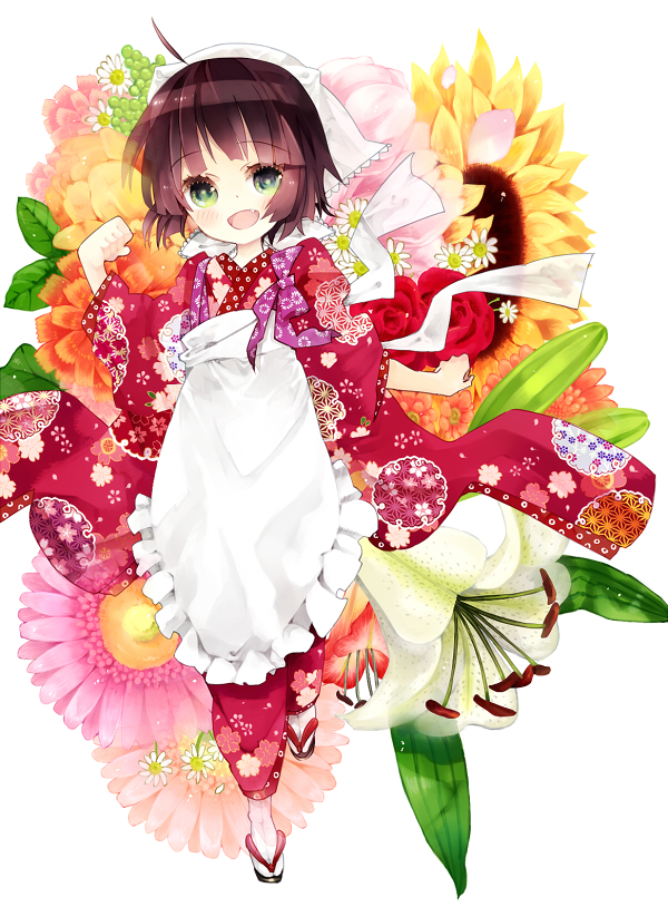 Tags: Anime, Komochi, Ikoku Meiro no Croisée, Yune (Ikoku Meiro no Croisee), Daisy (Flower), Bright Colors