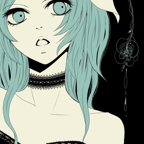 Tags: Anime, Yunomi, Ribbon Choker, Close Up, Spot Color