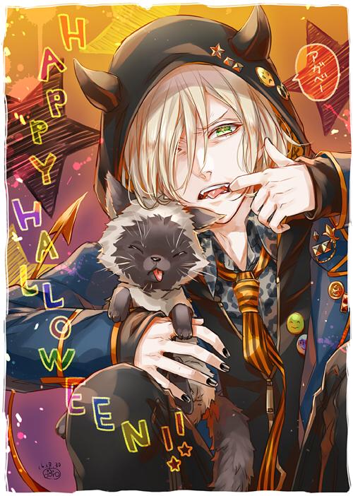Tags: Anime, Himeichiko, Yuri!!! On Ice, Potya, Yuri Plisetsky, Star Print, Leopard Print, Mobile Wallpaper, PNG Conversion