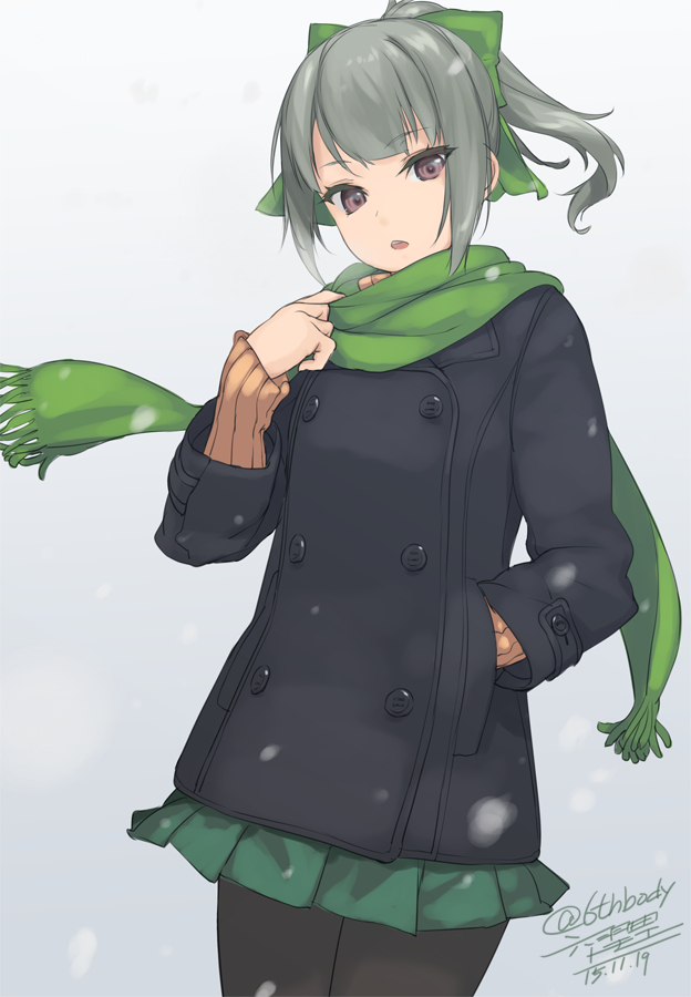 Tags: Anime, Rokuwata Tomoe, Kantai Collection, Yuubari (Kantai Collection), Pixiv, Fanart, Fanart From Pixiv, PNG Conversion, Mobile Wallpaper