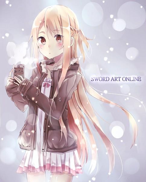 Tags: Anime, Pixiv Id 4238462, Sword Art Online, Yuuki Asuna, Brown Jacket, Winter