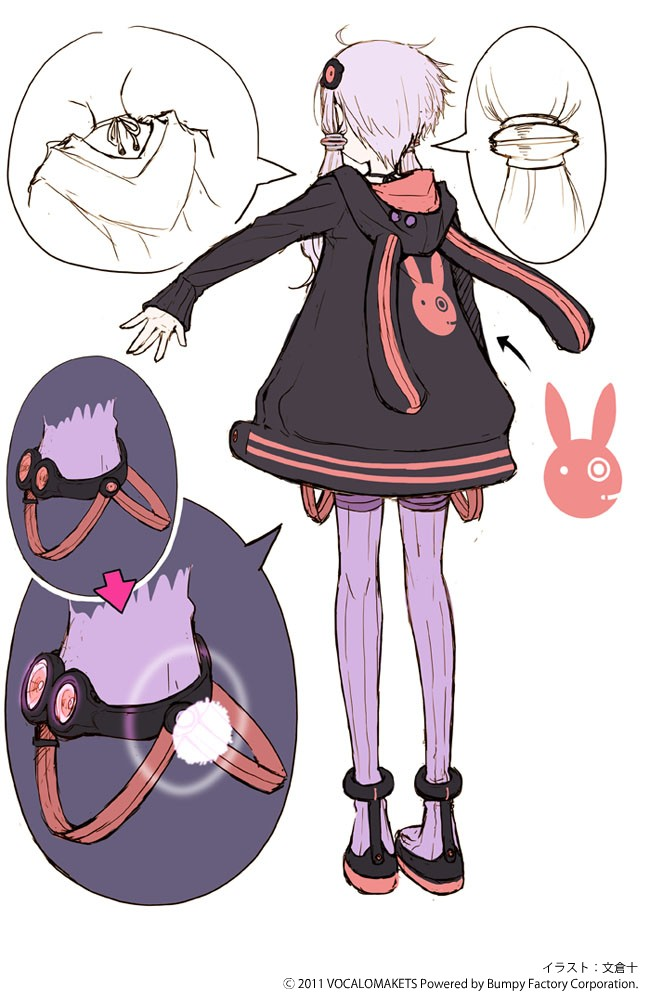 Tags: Anime, Ayakura Juu, VOCALOID, Yuzuki Yukari, Sketch, Mobile Wallpaper, Character Sheet