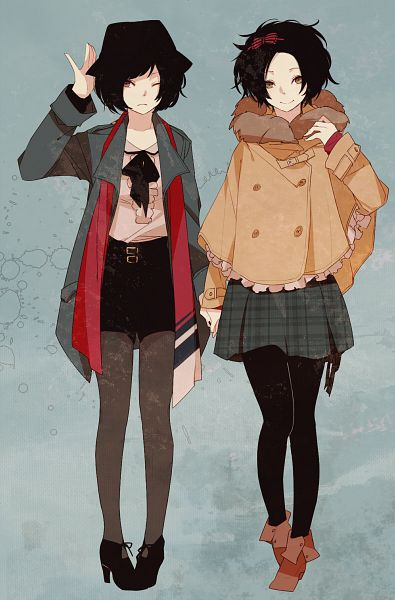 Tags: Anime, Zakka, Checkered Skirt, Black Bow, Black Hat, Black Pantyhose, Bow Tie