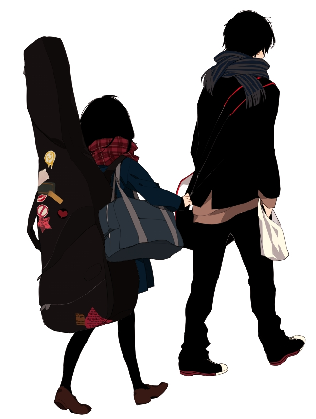 Tags: Anime, Zakka, School Bag, Walking, Black Pantyhose