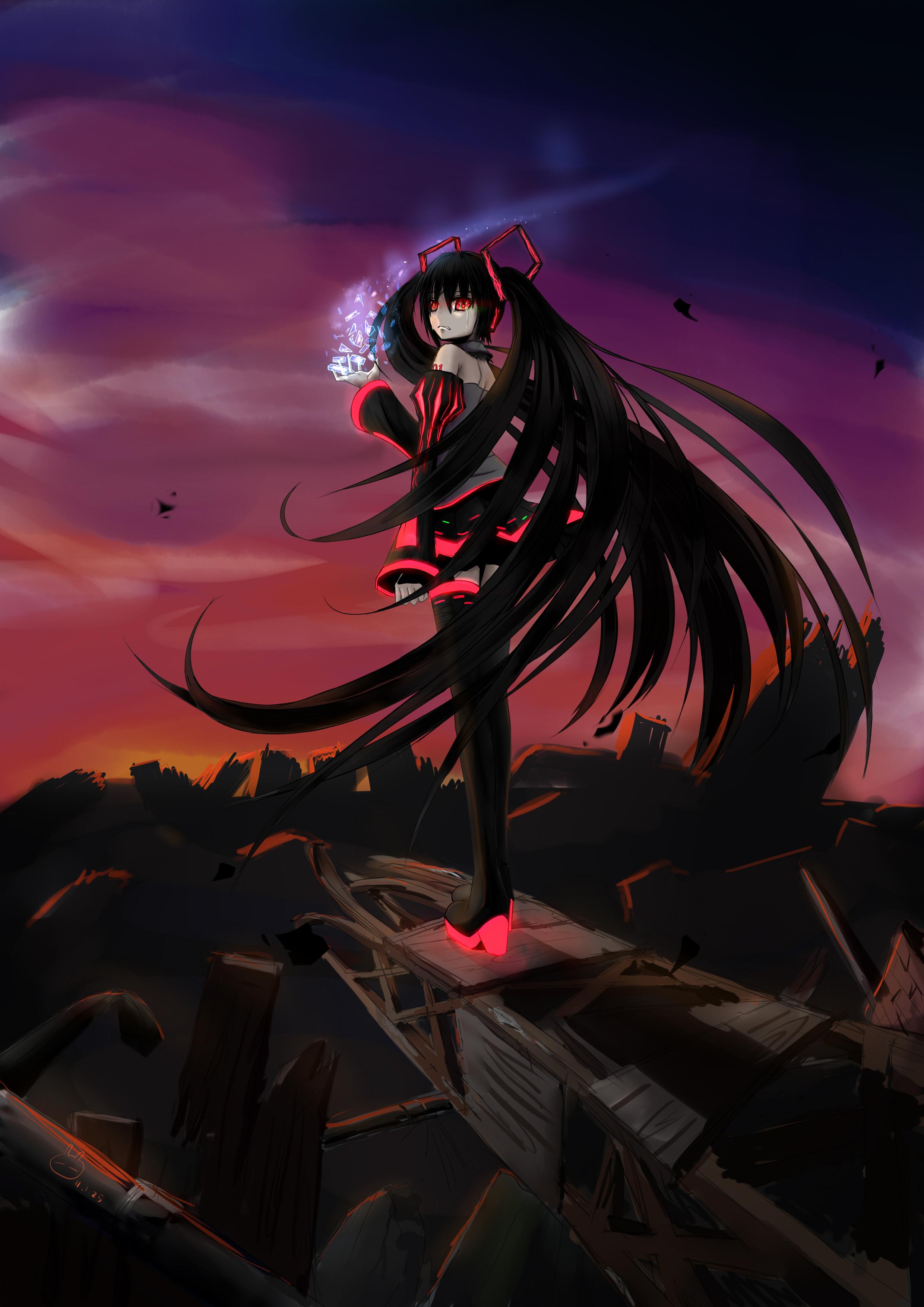 Картинка аниме девушка злая