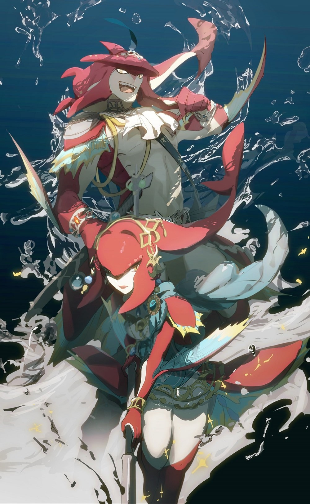 Mipha Breath Of The Wild Mobile Wallpaper Zerochan Anime