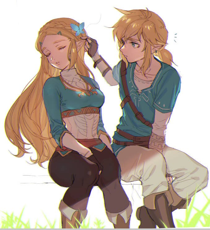 Tags: Anime, Pixiv Id 2312918, Zelda no Densetsu: Breath of the Wild, Zelda no Densetsu, Zelda (Breath of the Wild), Princess Zelda, Link (Breath of the Wild), Link, Leggings, Twitter, Fanart, The Legend Of Zelda: Breath Of The Wild
