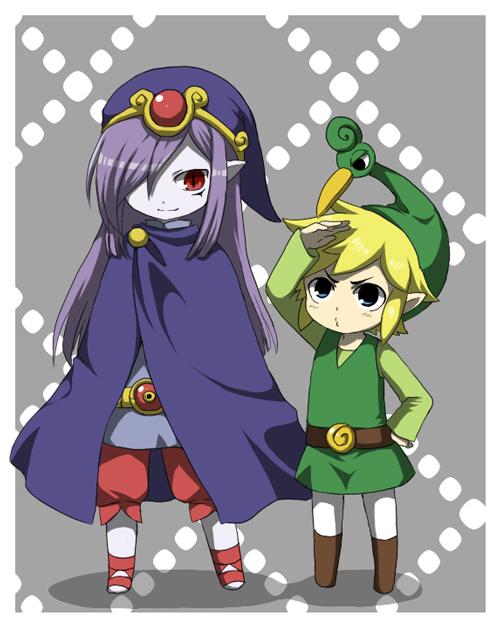 Tags: Anime, Pixiv Id 2003451, Zelda no Densetsu, Zelda no Densetsu: Fushigi no Boushi, Vaati, Ezlo, Link (Fushigi no Boushi), Link, Puckering Lips, Fanart, Fanart From Pixiv, Pixiv, The Legend Of Zelda The Minish Cap