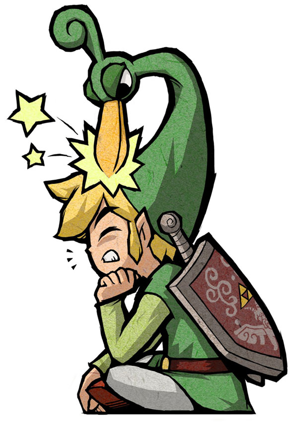 Tags: Anime, Nintendo, Zelda no Densetsu: Fushigi no Boushi, Zelda no Densetsu, Link (Fushigi no Boushi), Ezlo, Link, Triforce, Artist Request, Mobile Wallpaper, Official Art, The Legend Of Zelda The Minish Cap