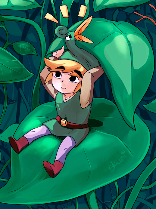 Tags: Anime, Sizumi, Zelda no Densetsu: Fushigi no Boushi, Zelda no Densetsu, Link, Link (Fushigi no Boushi), Ezlo, Pixiv, Fanart From Pixiv, Fanart, Mobile Wallpaper, The Legend Of Zelda The Minish Cap