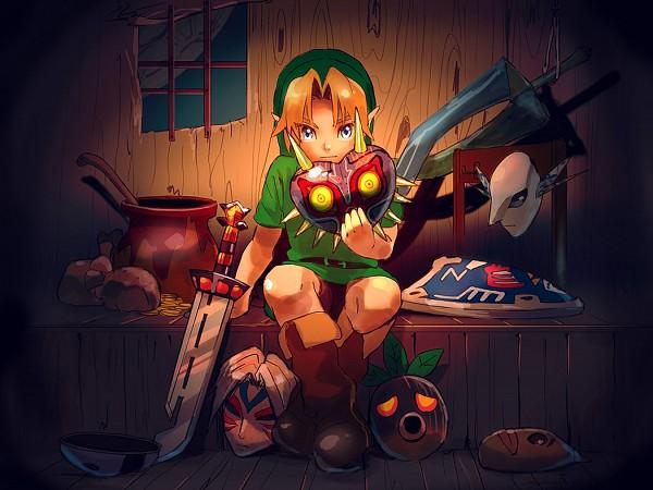 Tags: Anime, Pixiv Id 9698059, Nintendo, Zelda no Densetsu: Mujura no Kamen, Zelda no Densetsu, Young Link, Link
