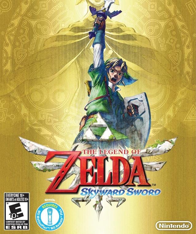 Tags: Anime, Nintendo, Zelda no Densetsu: Skyward Sword, Zelda no Densetsu, Link (Skyward Sword), Fi, Link, Master Sword, Artist Request, Cover Image, Official Art