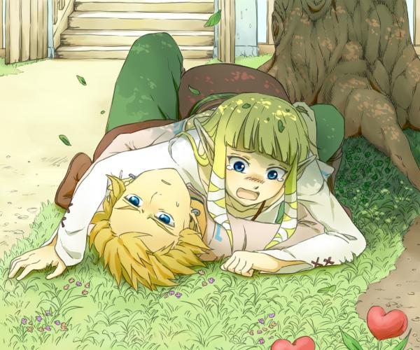 Tags: Anime, Saiba (Henrietta), Zelda no Densetsu: Skyward Sword, Zelda no Densetsu, Link (Skyward Sword), Princess Zelda, Zelda (Skyward Sword), Link, Fanart, Pixiv, Fanart From Pixiv