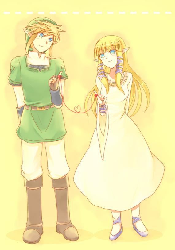 Tags: Anime, Sausu, Zelda no Densetsu: Skyward Sword, Zelda no Densetsu, Link (Skyward Sword), Link, Zelda (Skyward Sword), Princess Zelda, Pixiv, Mobile Wallpaper