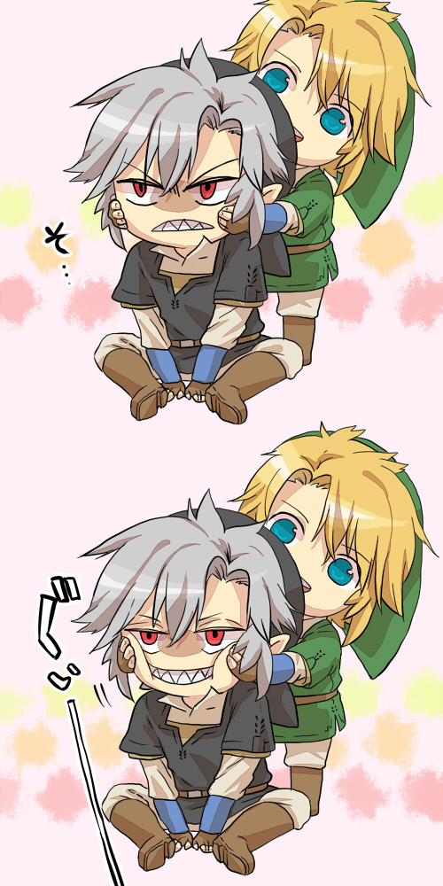 Tags: Anime, Pixiv Id 2616348, Zelda no Densetsu: Toki no Ocarina, Zelda no Densetsu, Dark Link, Link (Toki no Ocarina), Link, Pixiv, Fanart From Pixiv, Fanart