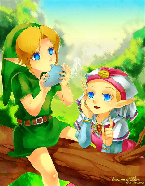 Tags: Anime, Muse (Rainforest), Zelda no Densetsu, Zelda no Densetsu: Toki no Ocarina, Princess Zelda, Zelda (Toki no Ocarina), Link, Link (Toki no Ocarina), Young Zelda, Young Link, Ocarina, Tunic, Fanart From DeviantART