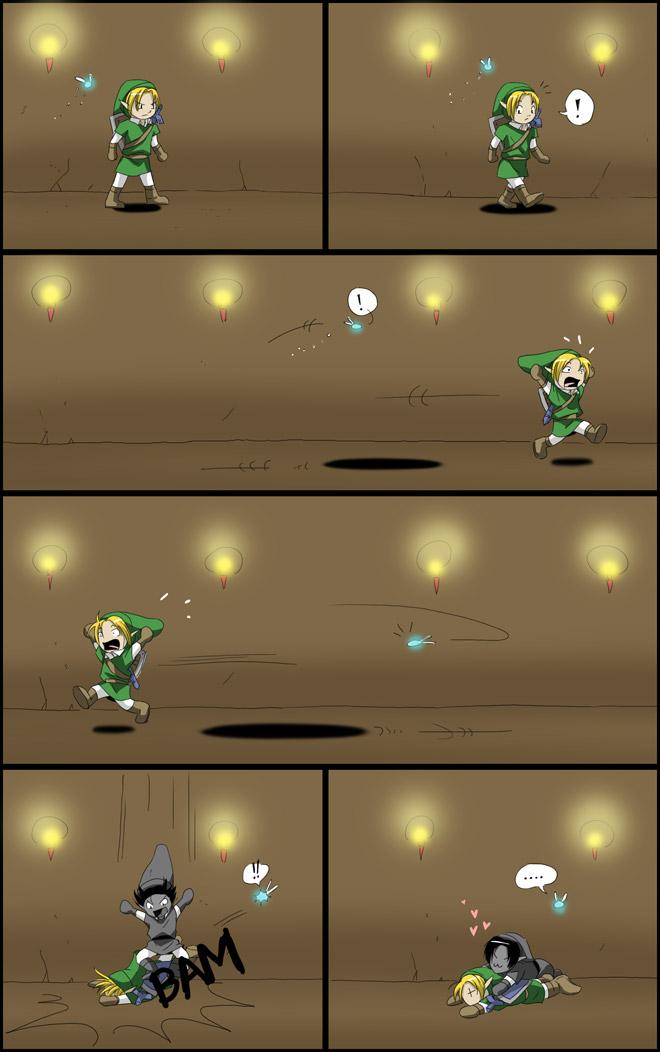 Tags: Anime, Kalyan, Zelda no Densetsu: Toki no Ocarina, Zelda no Densetsu, Navi, Dark Link, Link (Toki no Ocarina), Link, Mobile Wallpaper
