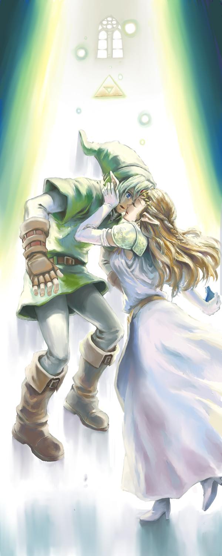 Tags: Anime, Beco, Zelda no Densetsu: Toki no Ocarina, Zelda no Densetsu, Link (Toki no Ocarina), Link, Zelda (Toki no Ocarina), Princess Zelda, Pixiv, Fanart From Pixiv, Fanart