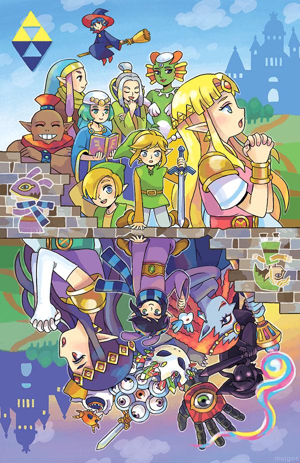 Tags: Anime, MOJGON, Zelda no Densetsu, Zelda no Densetsu: Kamigami no Triforce 2, Zelda (Kamigami no Triforce 2), Irene (Zelda no Densetsu), Link (Kamigami no Triforce 2), Ravio, Impa, Princess Zelda, Yuga (Kamigami no Triforce 2), Princess Hilda, Link, The Legend Of Zelda