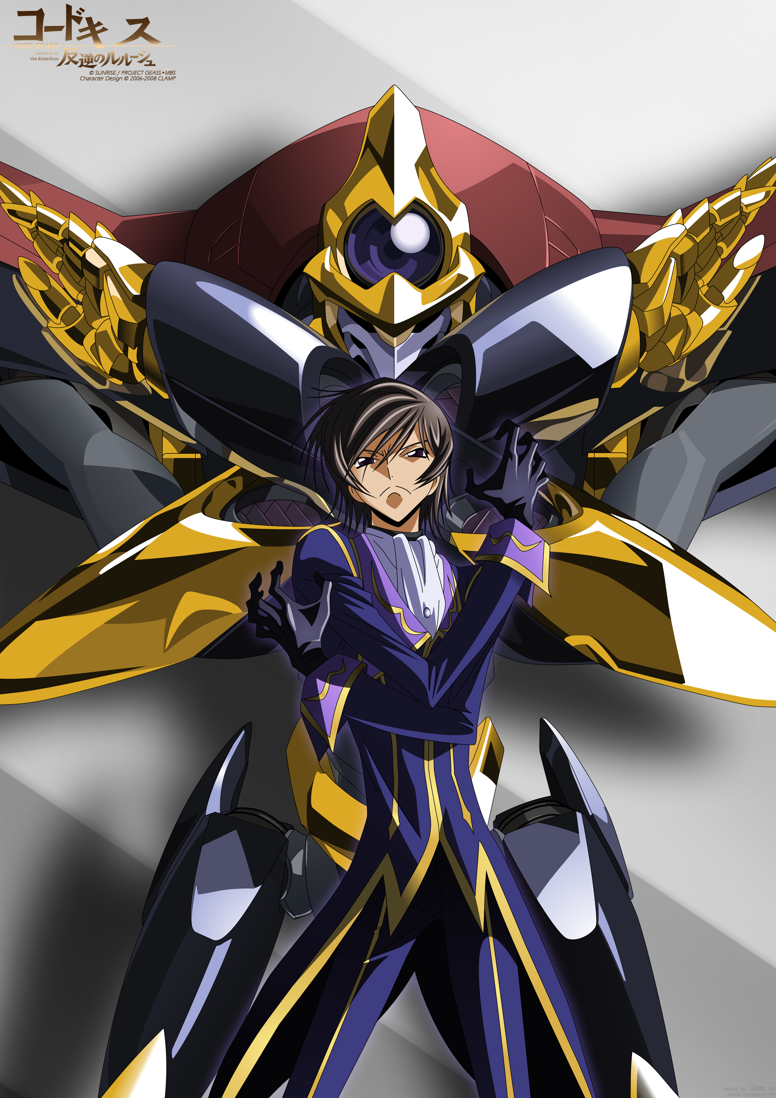Zero Code Geass Lelouch Lamperouge Mobile Wallpaper