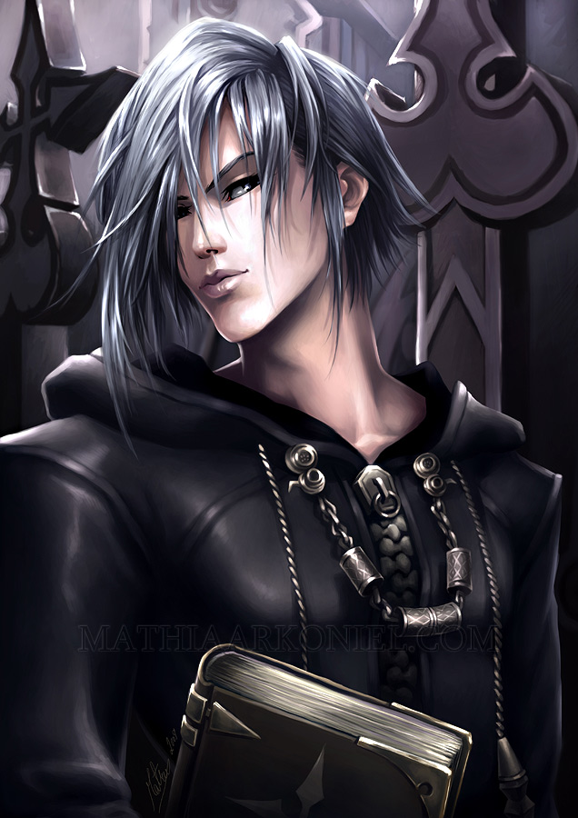 Tags: Anime, MathiaArkoniel, Kingdom Hearts, Zexion, Mobile Wallpaper, Organization XIII
