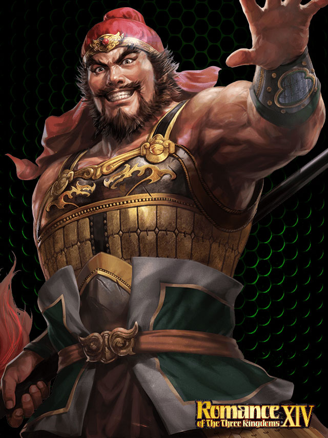 Tags: Anime, Romance of the Three Kingdoms, Dynasty Warriors, Zhang Fei, Official Art