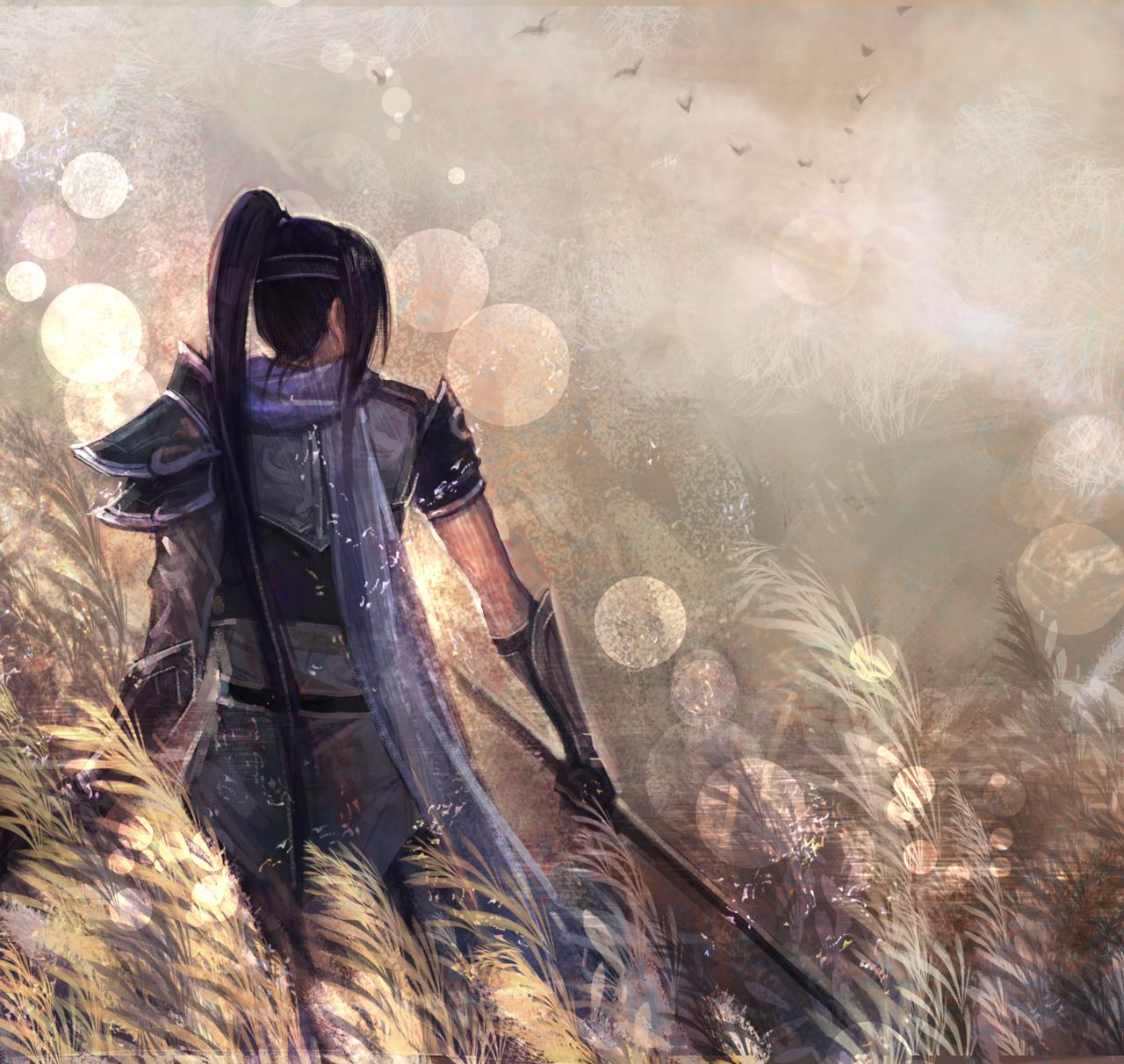 Tags: Anime, Pixiv Id 2846860, Dynasty Warriors, Zhao Yun, Spear