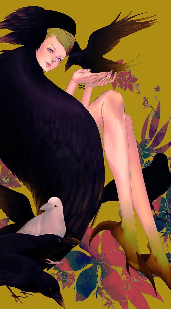 Tags: Anime, Zizizy, Bird Person, Pixiv, Original