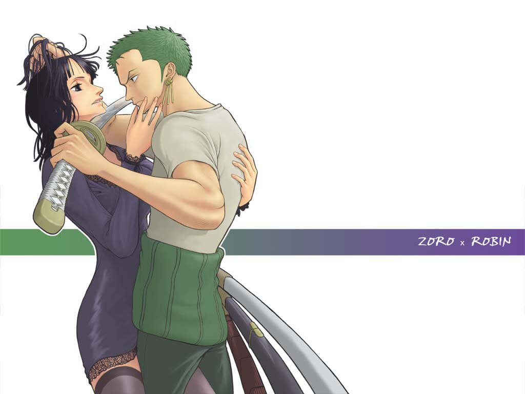 One piece nico robin and zoro