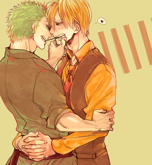 Tags: Anime, Pixiv Id 2558319, ONE PIECE, Roronoa Zoro, Sanji, Agressiv, Fanart, One Piece: Two Years Later, ZoSan
